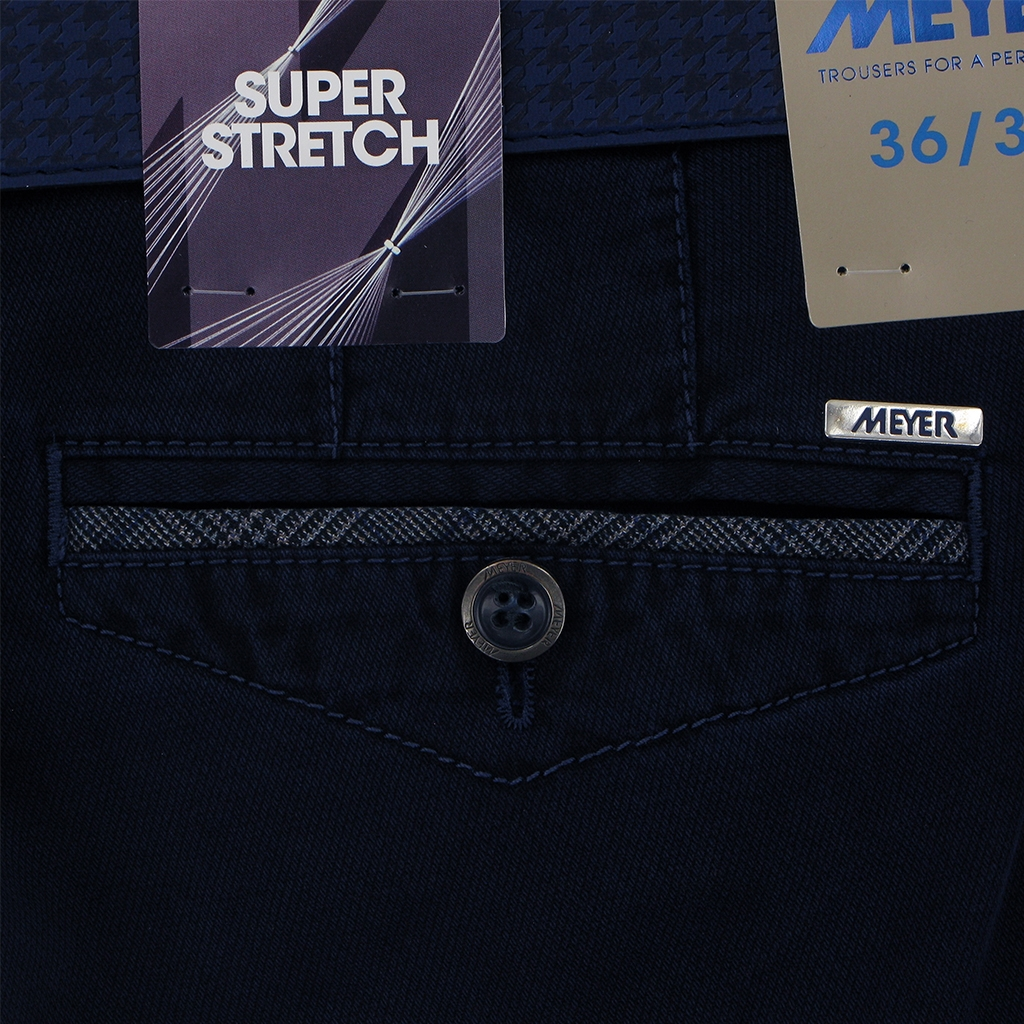 Autumn 2018 Meyer Cotton Trouser - Navy - Chicago 5557 17