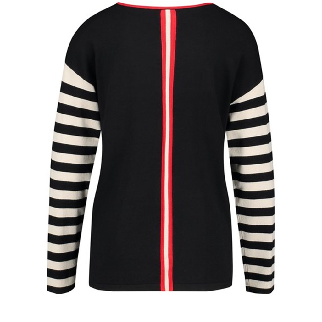 Gerry Weber Jumper with Mixed Pattern - Black & Red
