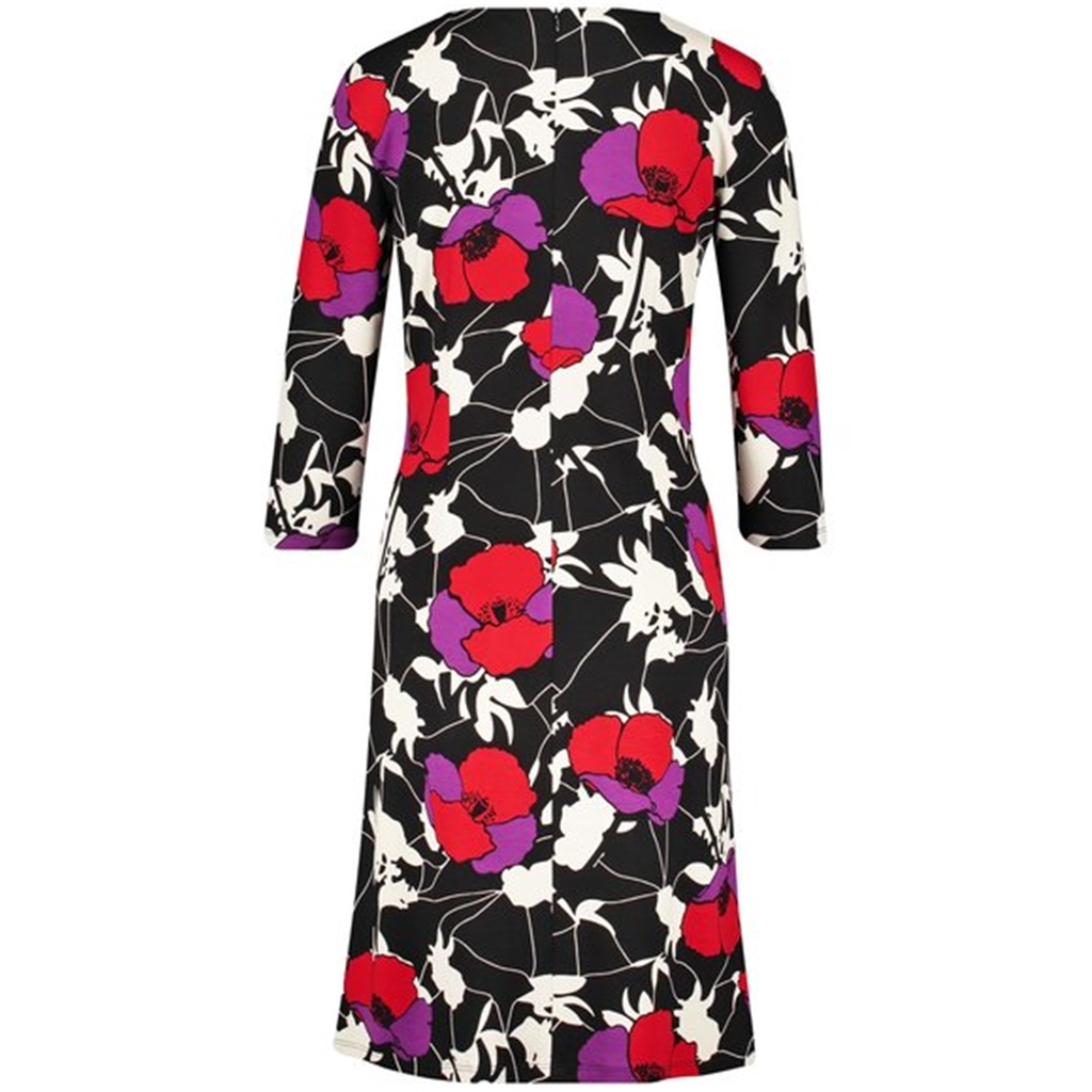 Gerry Weber Jersey Dress - Black/Red