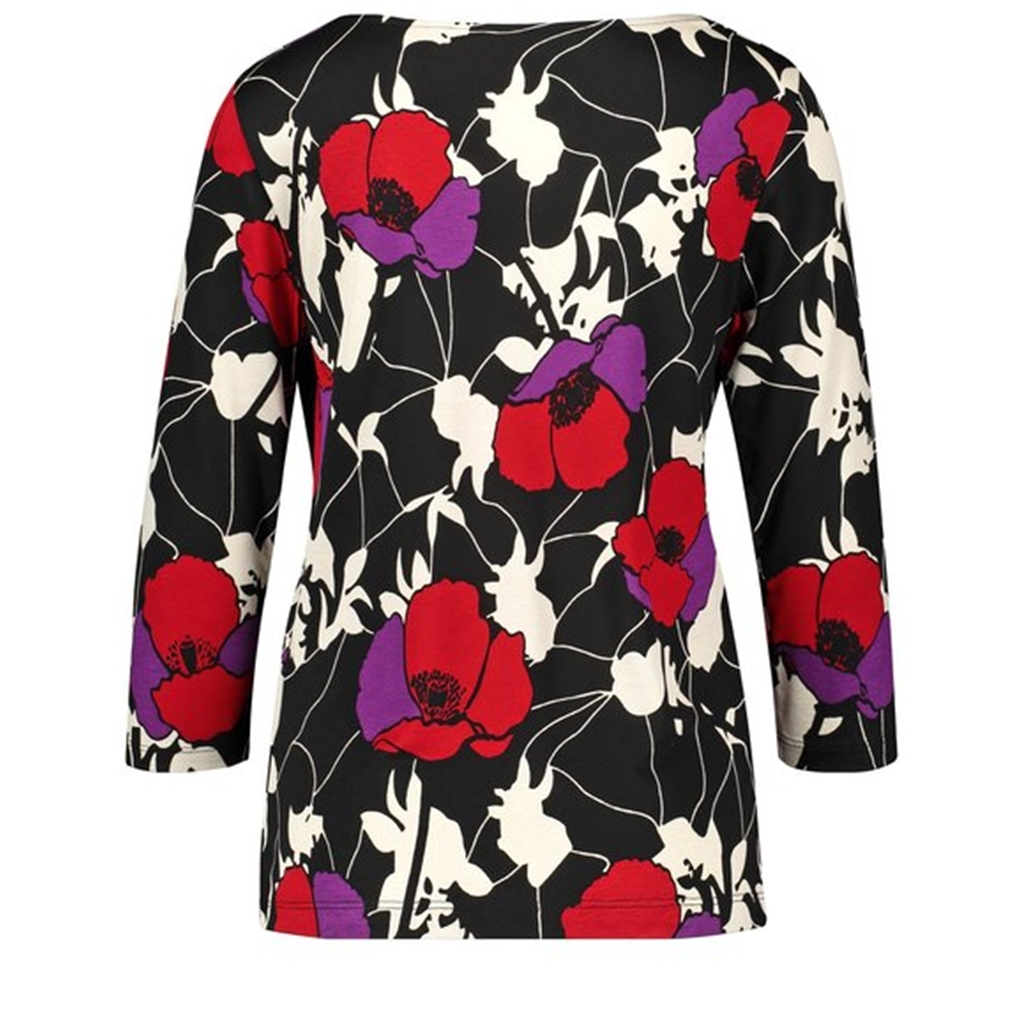 Gerry Weber 3/4 sleeve top - Black/Red