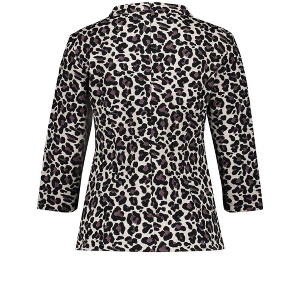 Gerry Weber Leopard Print Blazer - Putty