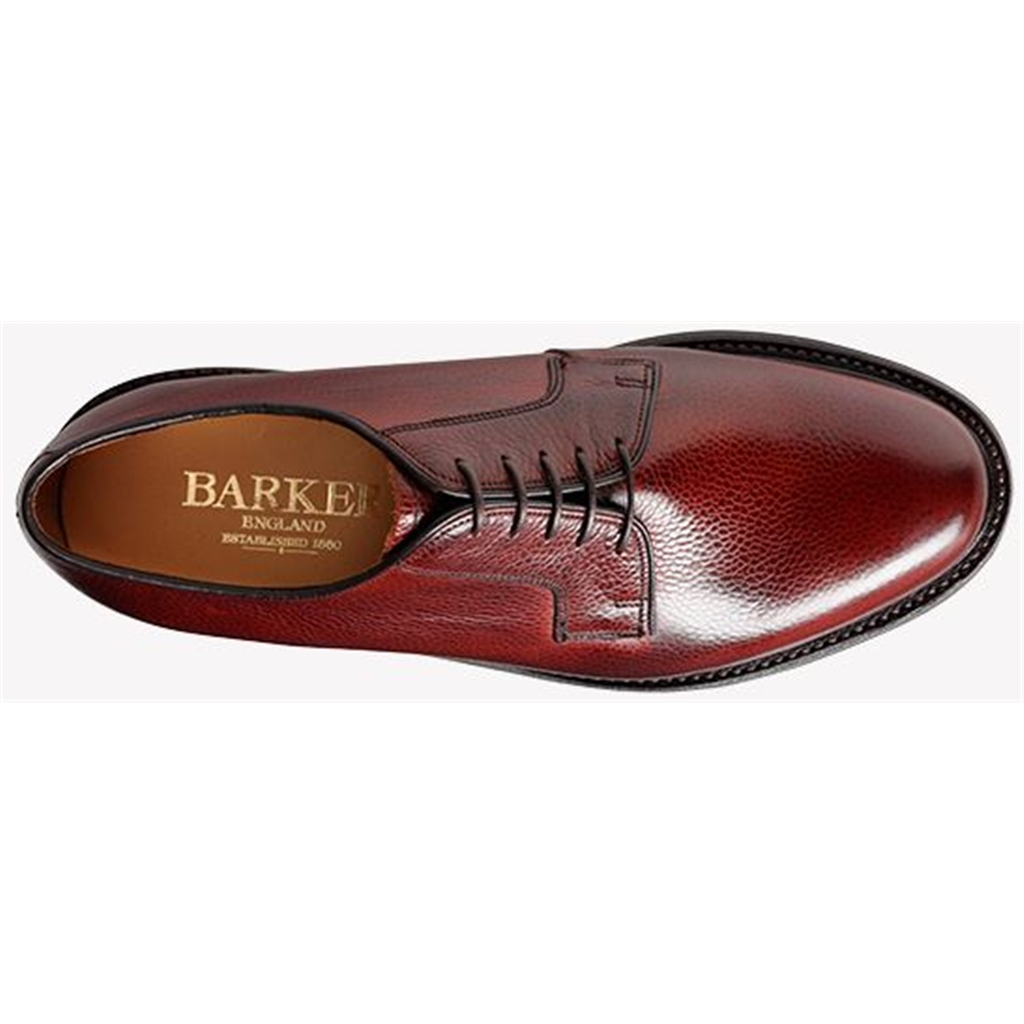 Barker Nairn Shoes - Dainite Rubber Sole - Cherry Grain