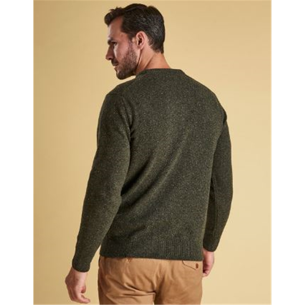 Autumn 2018 Barbour Men's Tisbury Crew Neck Sweater - Dark Seaweed