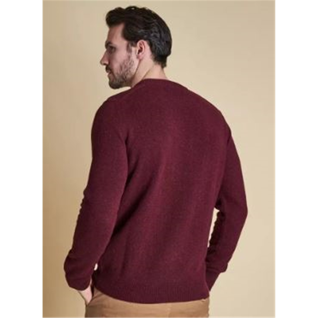 Autumn 2018 Barbour Men's Tisbury Crew Neck Sweater - New Ruby