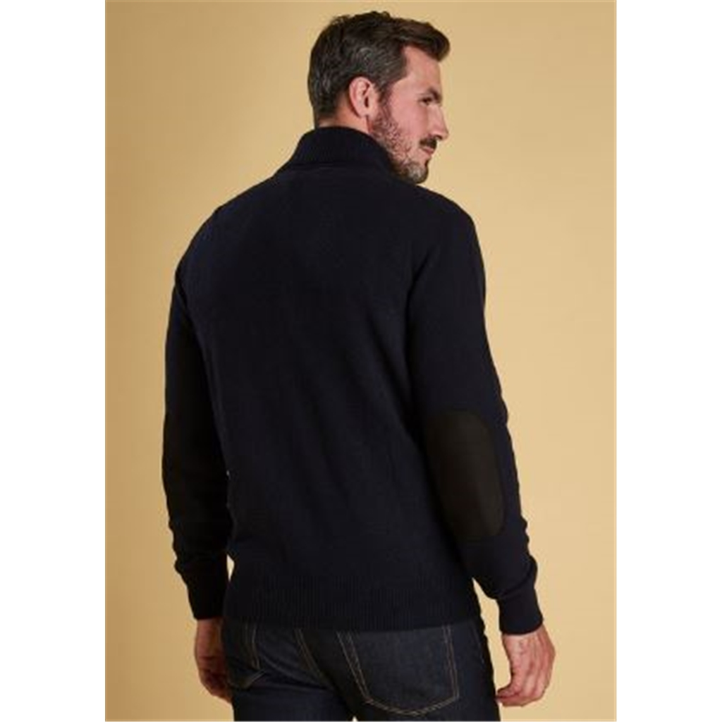 Autumn 2018 Barbour Men's Patch Zip Thru Jumper - Navy
