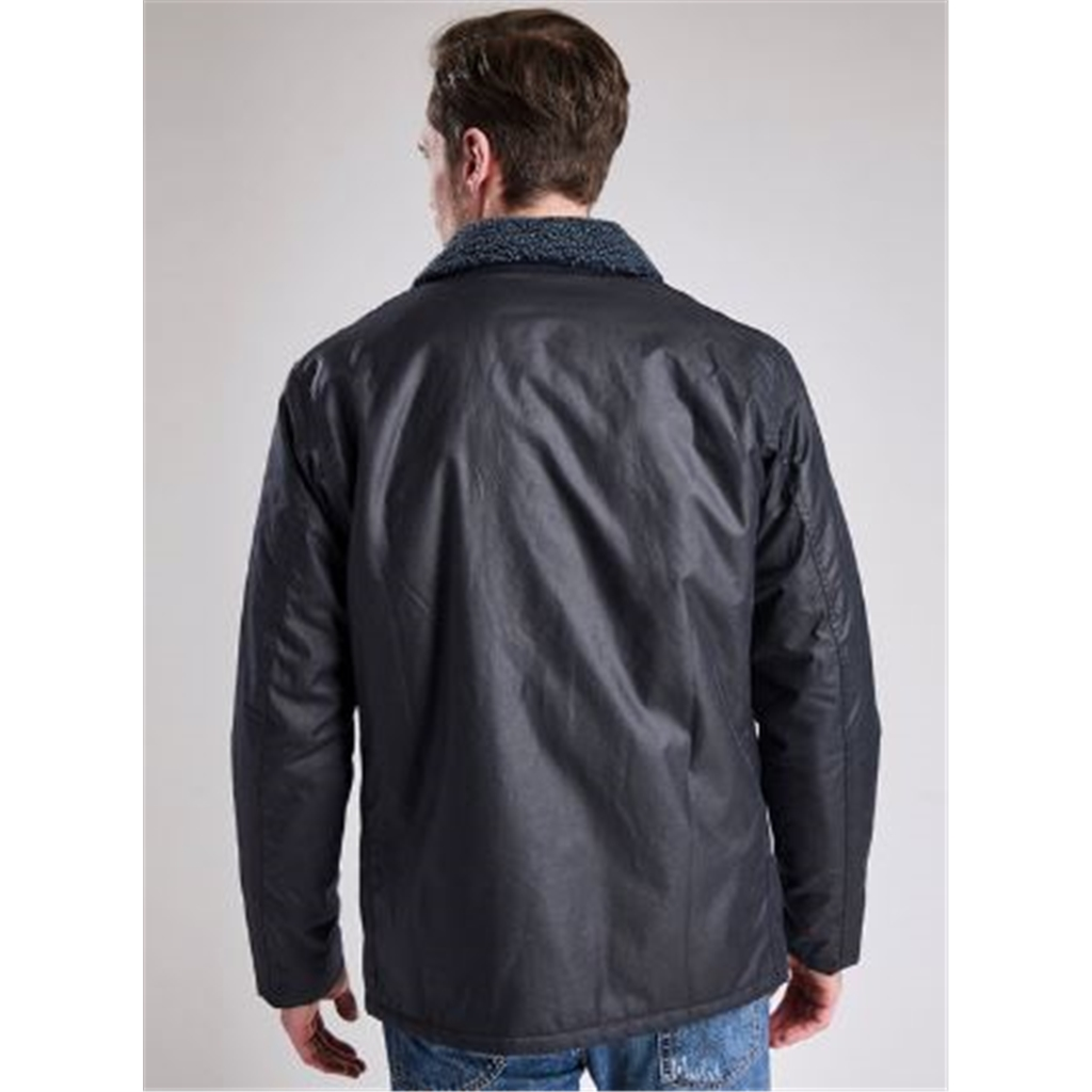 Autumn 2018 Barbour International Men's Steve McQueen Havasu Waxed Jacket - Navy