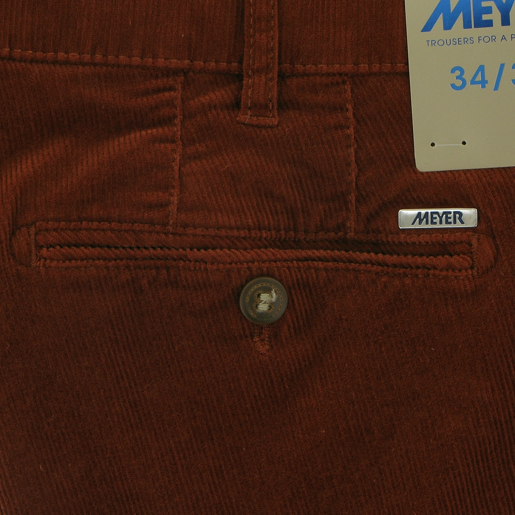 Autumn 2018 Meyer Italian Corduroy Trouser - Rust - Bonn 3700 47