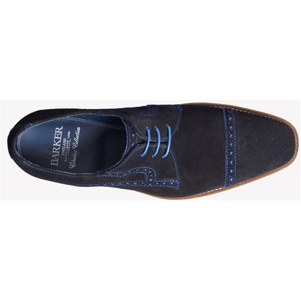 Barker Ashton - Navy / Blue Suede