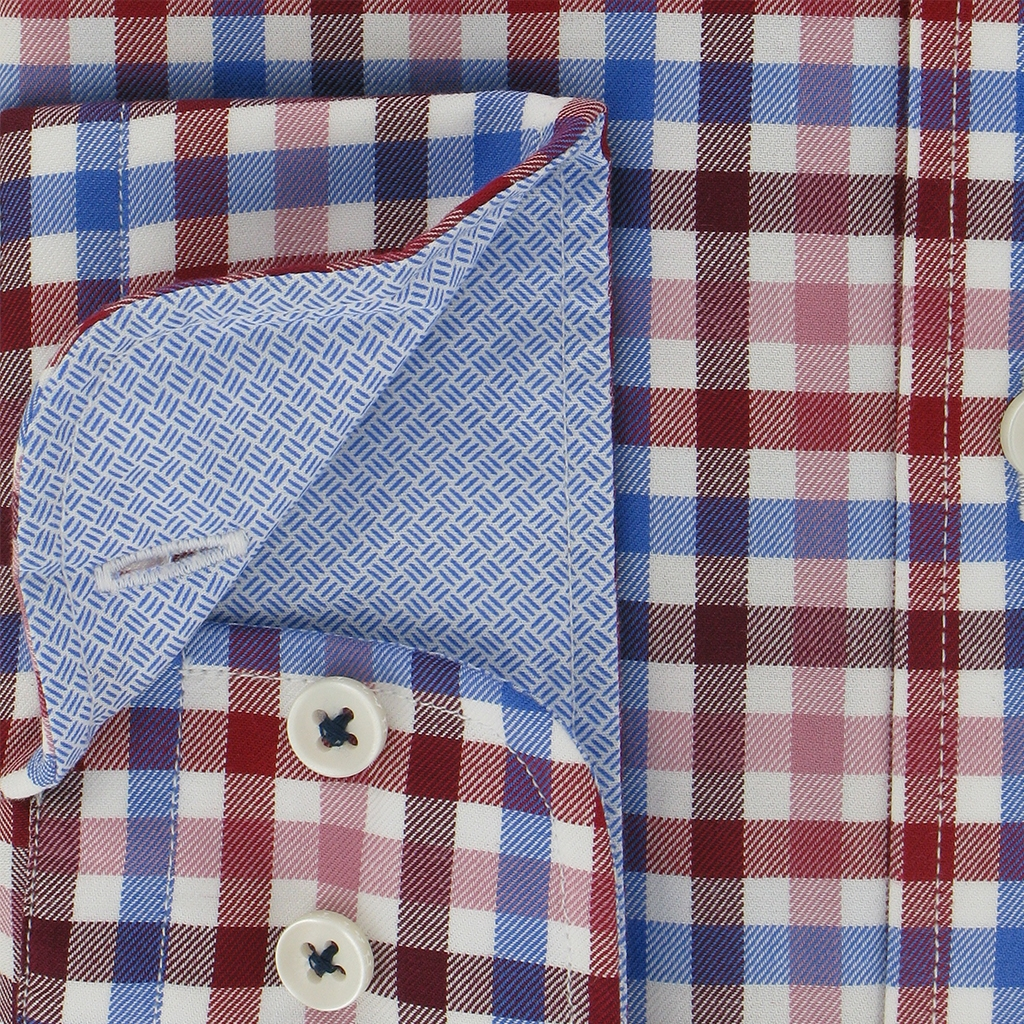 Autumn 2018 Fynch Hatton Shirt - Supersoft Twill - Pinotage Blue