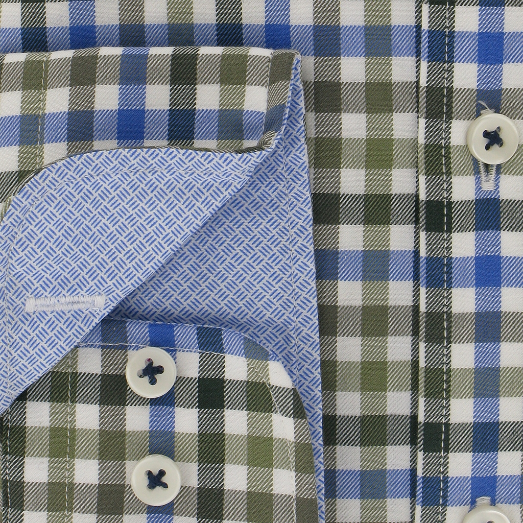 Autumn 2018 Fynch Hatton Shirt - Supersoft Twill - Everglade Blue