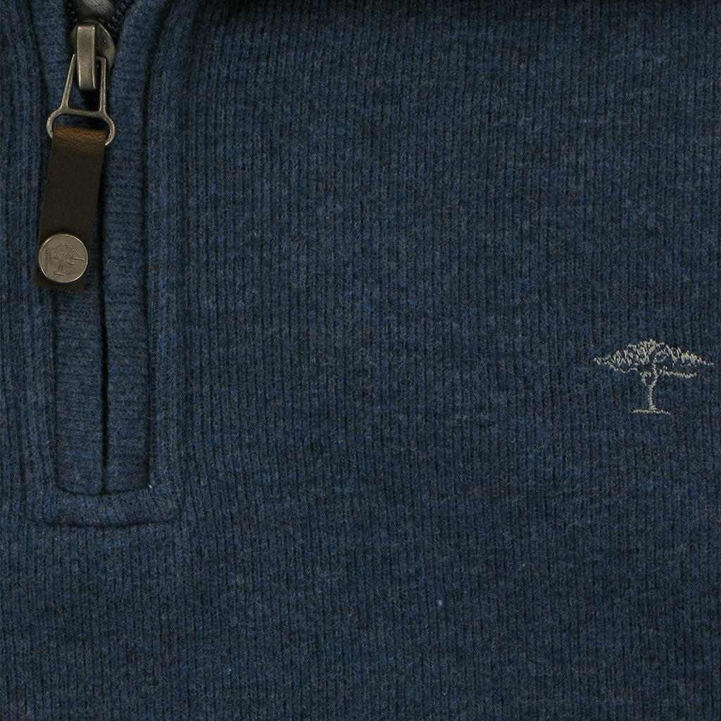 Autumn 2018 Fynch Hatton Zip Neck - Denim