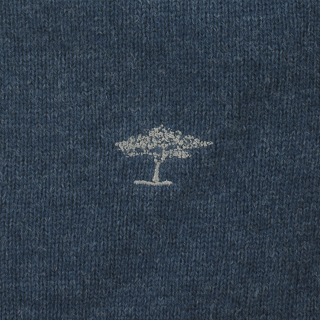 Autumn 2018 Fynch Hatton Wool & Cashmere Zip Neck - Iceblue