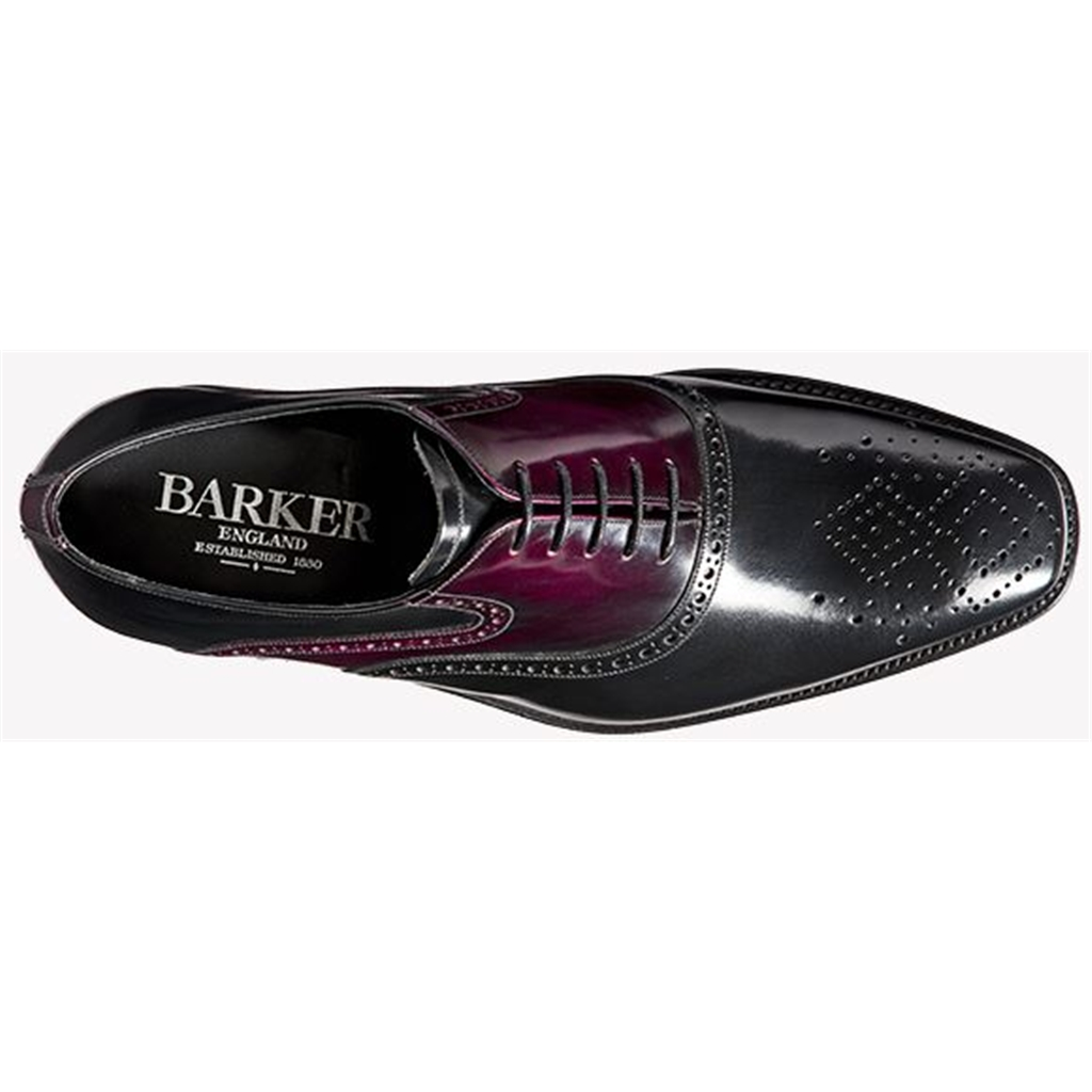 Barker Langley - Black Calf / Aubergine Hi-Shine