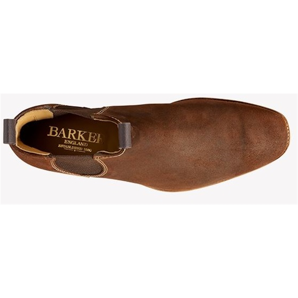Barker Mansfield - Mid Brown Waxy Suede