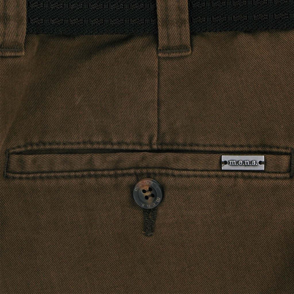 m.e.n.s. Luxury Cotton Chino Trouser - Brown