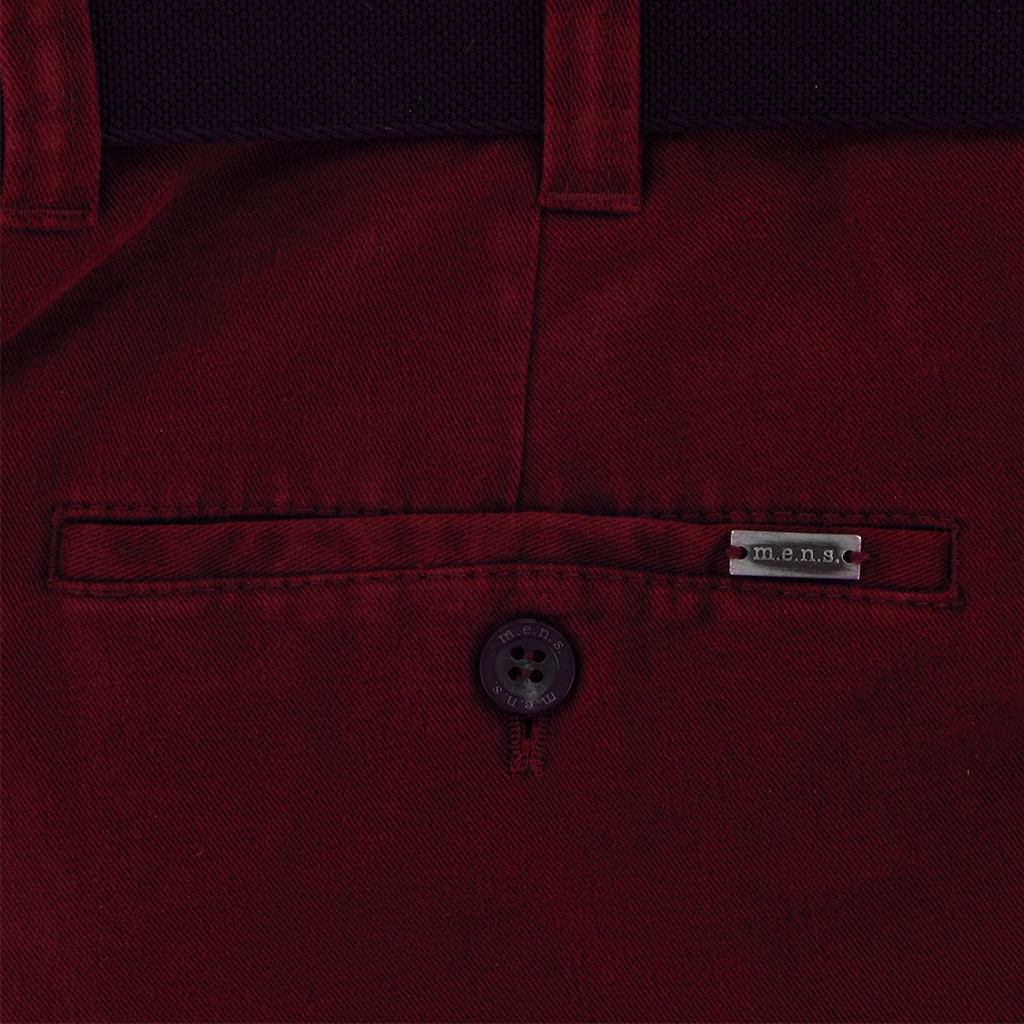 m.e.n.s. Luxury Cotton Chino Trouser - Wine