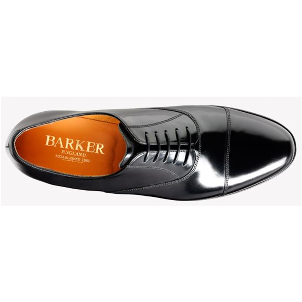 Barker Arnold Shoes - Classic Oxford - Black Hi-Shine