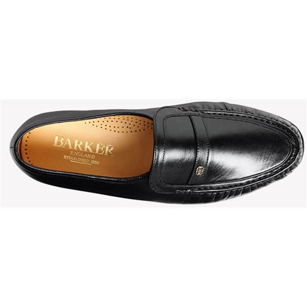 Barker Jefferson Shoes - Moccasin - Black Kid