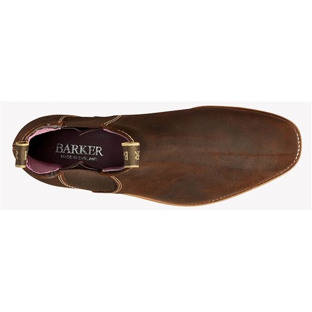 Barker Gina - Mid Brown Waxy Suede