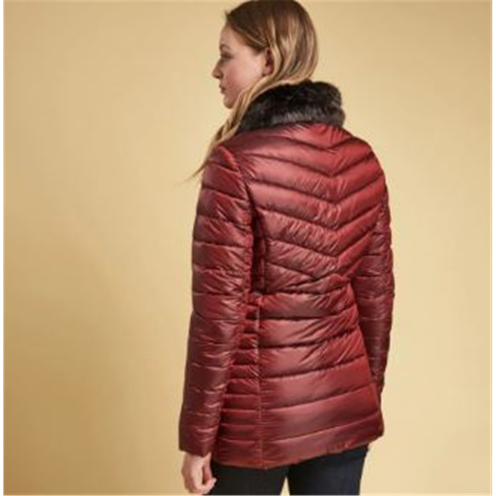Autumn 2018 Barbour Lomond Quilted Jacket - Tartan Red