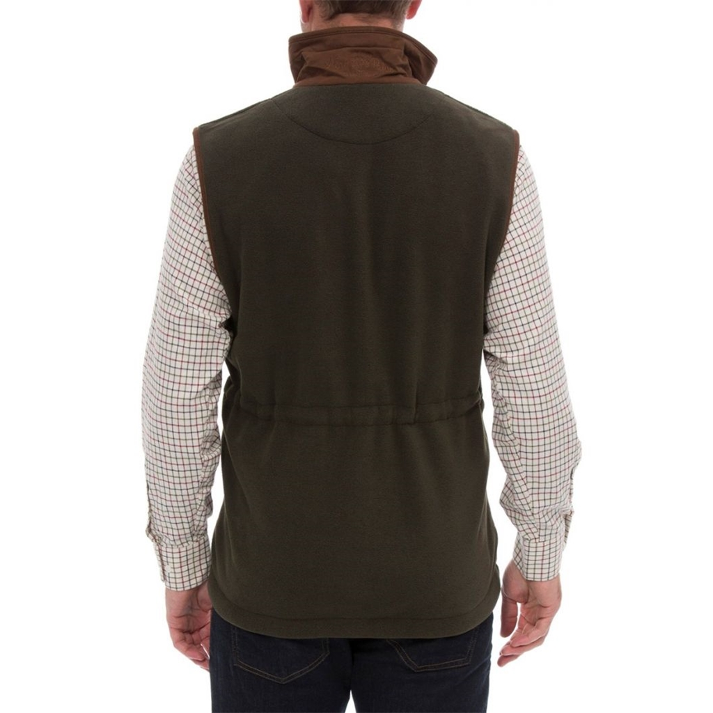 Alan Paine Country Collection - Aylsham Men's Fleece Waistcoat - Moss Green