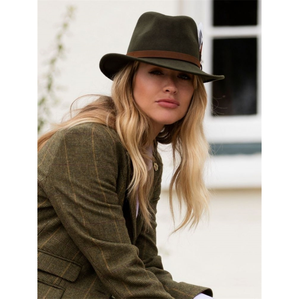 Alan Paine Richmond Unisex Felt Hat - Olive