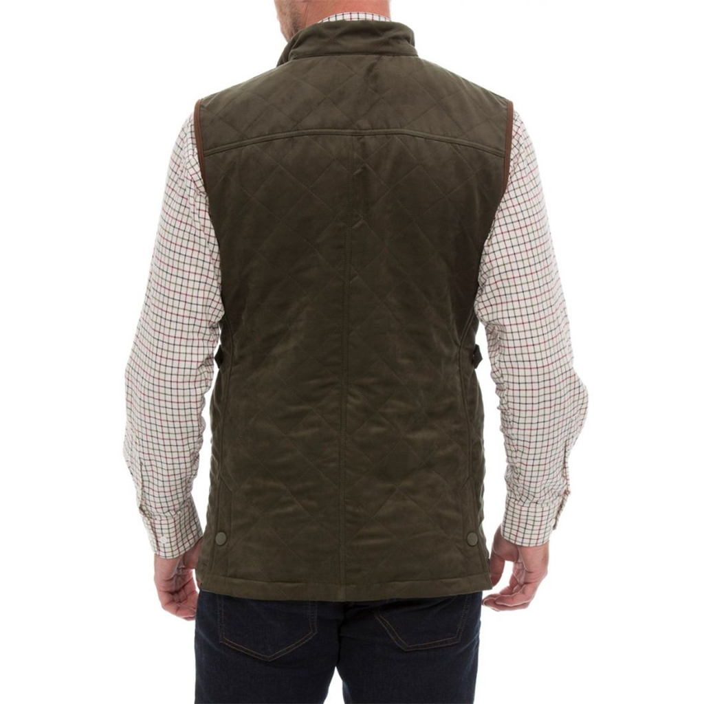 Alan Paine Country Collection - Felwell Men's Quilted Waistcoat - Dark Olive