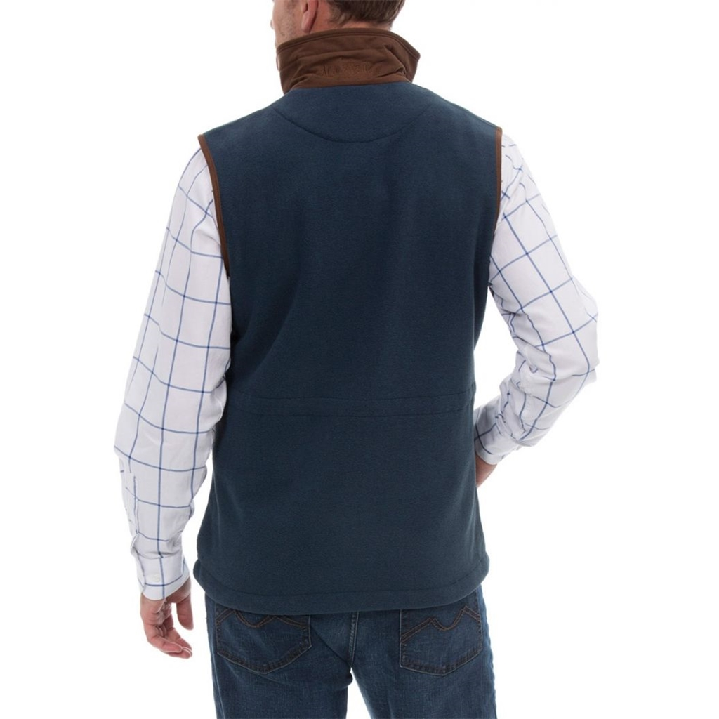 Alan Paine Country Collection - Aylsham Men's Fleece Waistcoat - Blue Steel