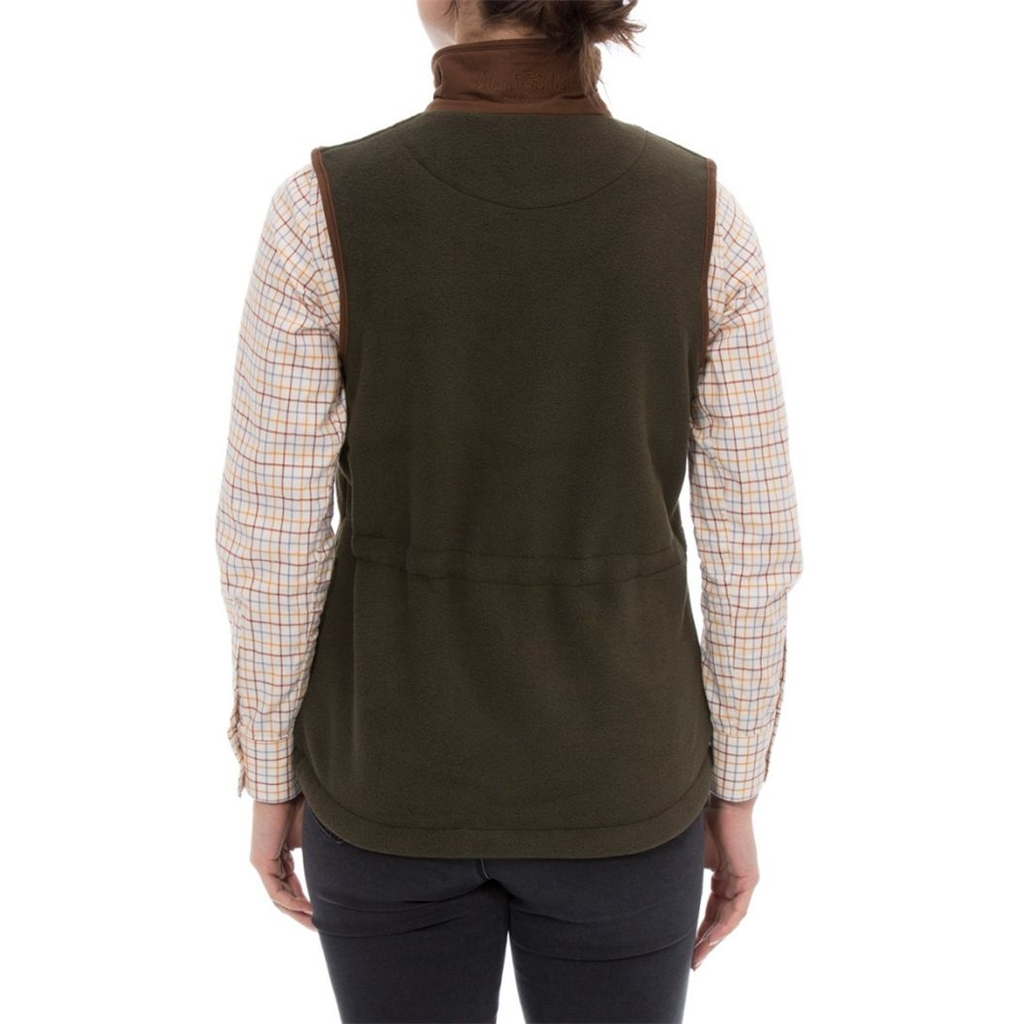 Alan Paine Ladies' Aylsham Fleece Gilet - Green