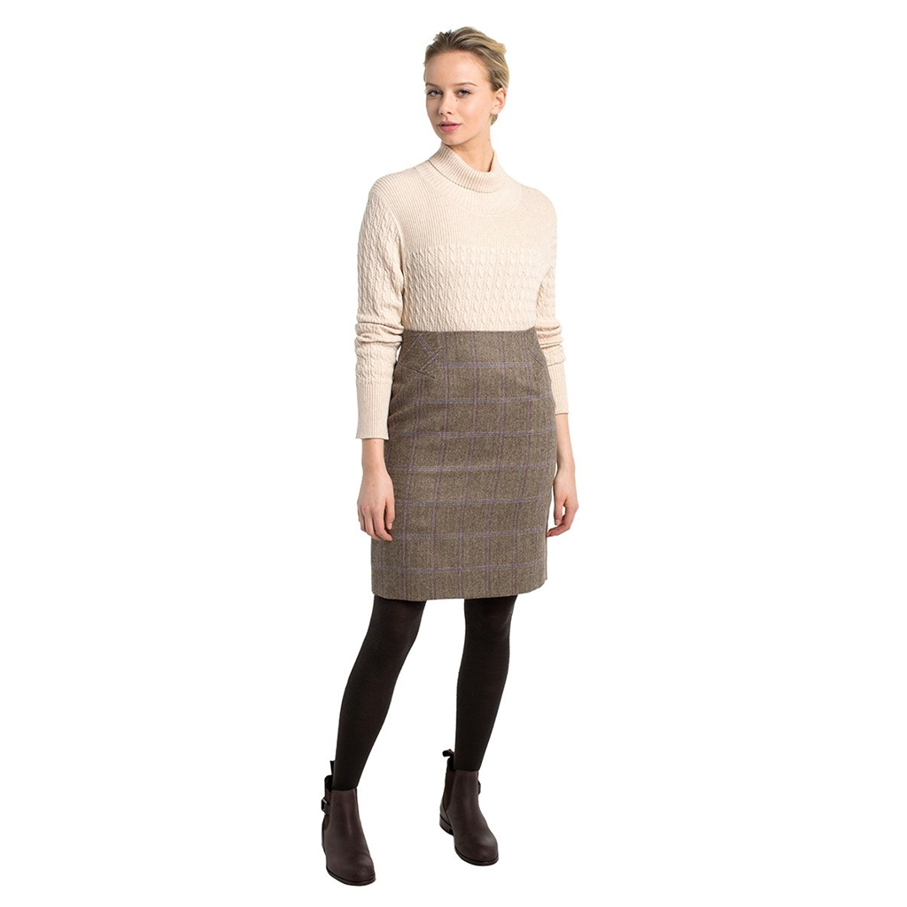 Autumn 2018 Dubarry of Ireland Fern Tweed Knee Length Skirt - Woodrose