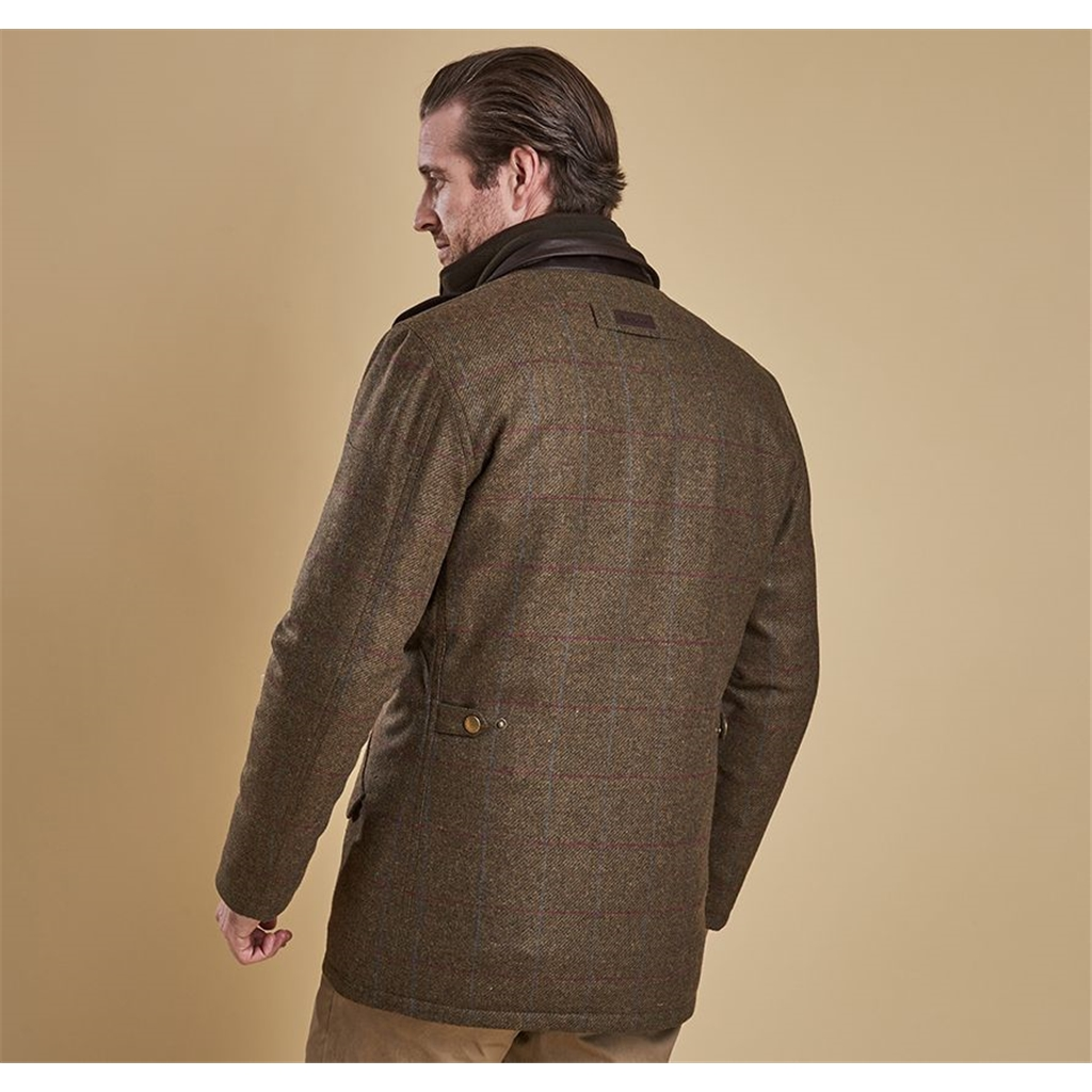 Autumn 2018 Barbour Men's Wibrel Tweed Jacket - Olive with Overcheck