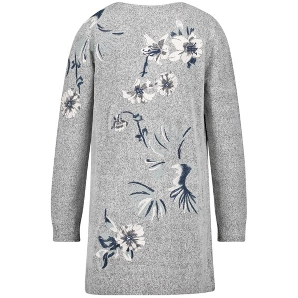 Gerry Weber Embroidered Cardigan - Stone Melange