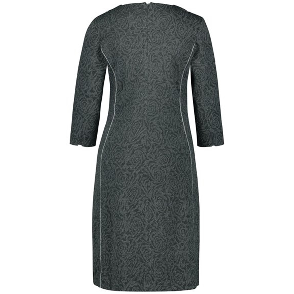 Gerry Weber Dress With Jacquard Pattern - Grey