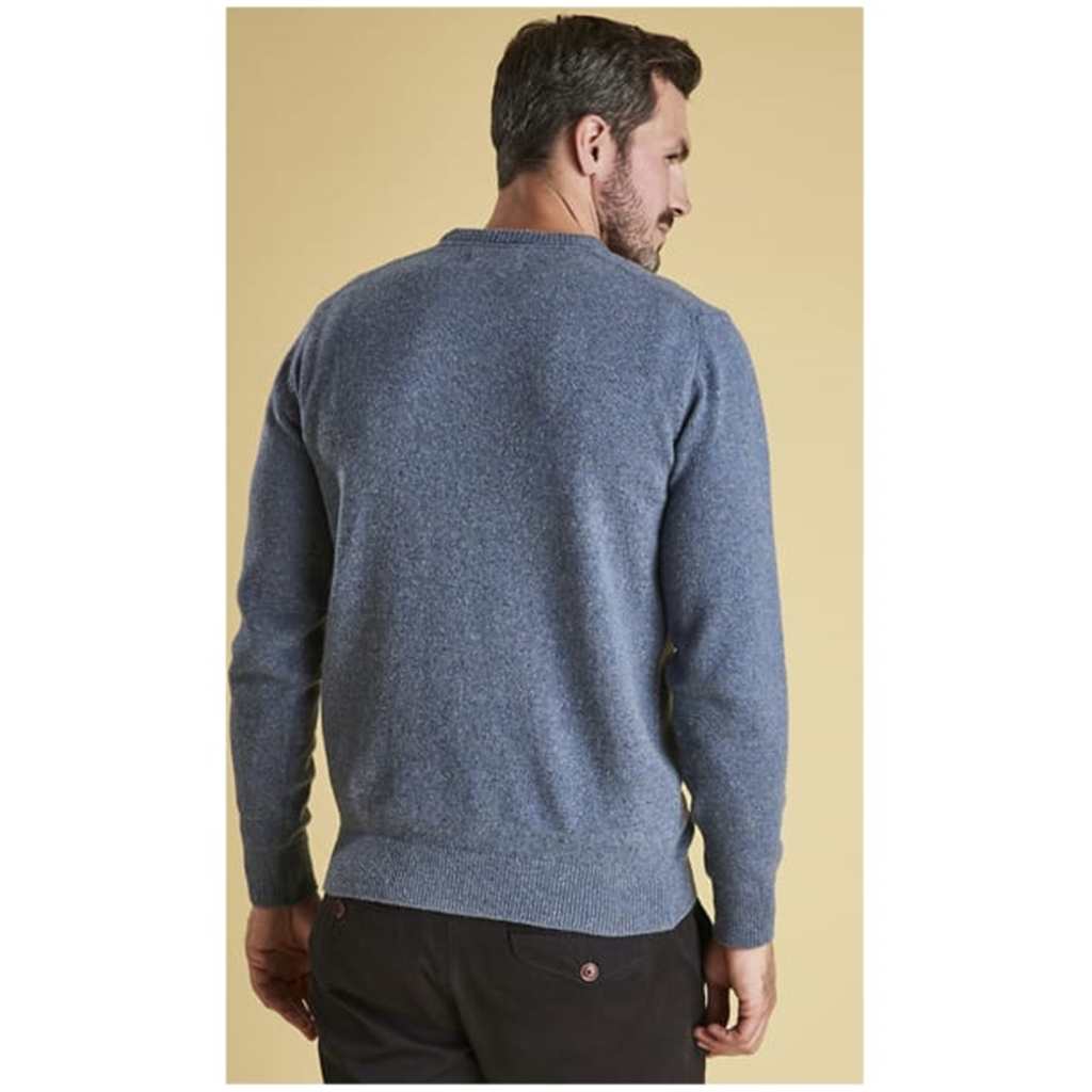 Autumn 2018 Barbour Men's Tisbury Crew Neck Sweater - Chambray Blue - Size XXL Only