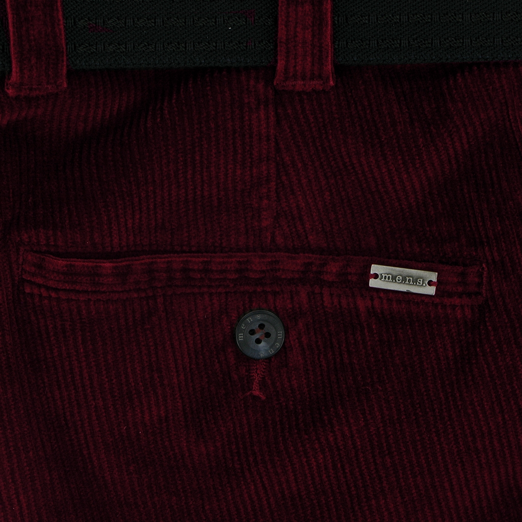 Autumn 2018 m.e.n.s. Luxury Cotton Corduroy Trouser - Ruby