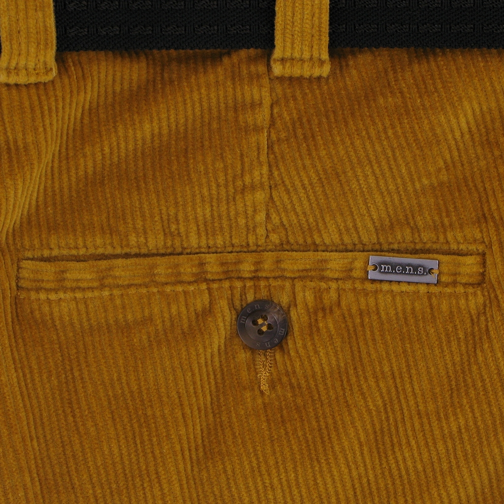 m.e.n.s. Luxury Cotton Corduroy Trouser - Sunset Yellow