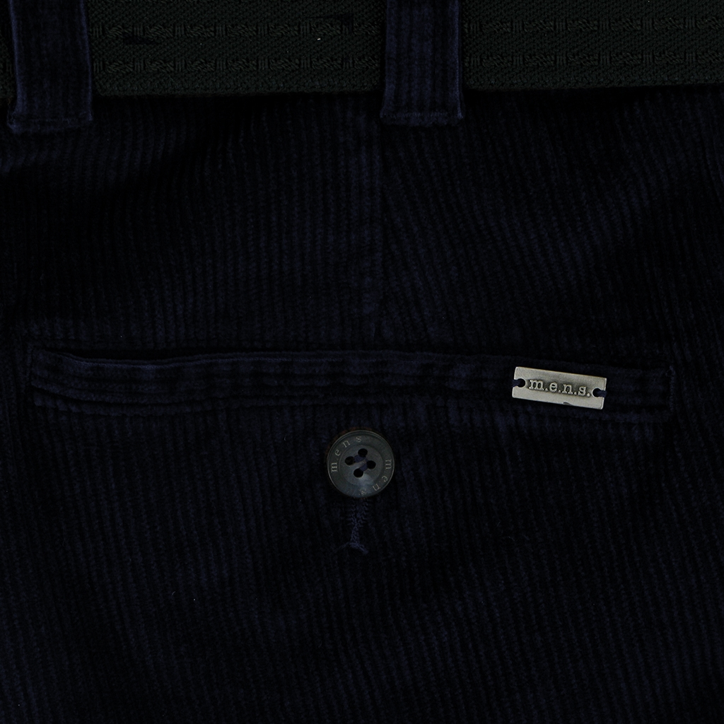 m.e.n.s. Luxury Cotton Corduroy Trouser - Navy Blue