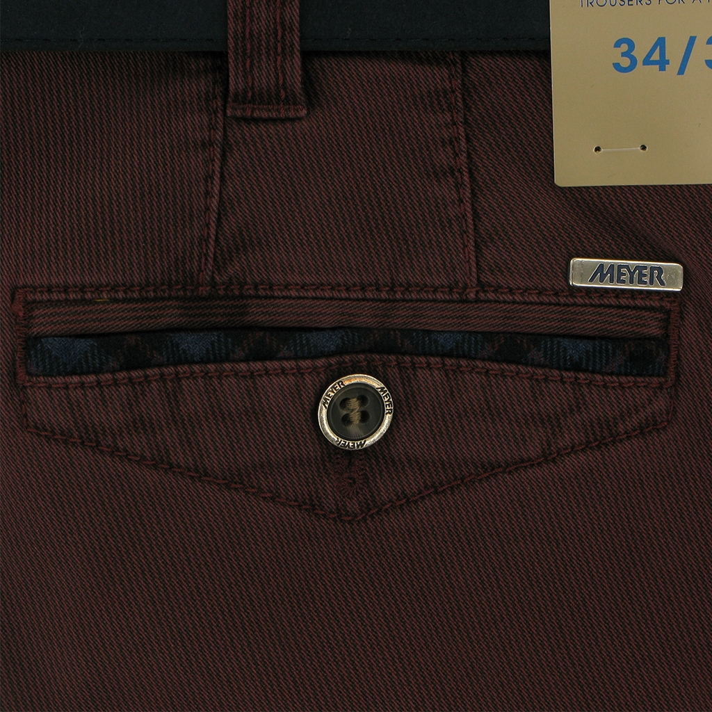 Meyer Cotton Trouser - Wine - Chicago 5555 56