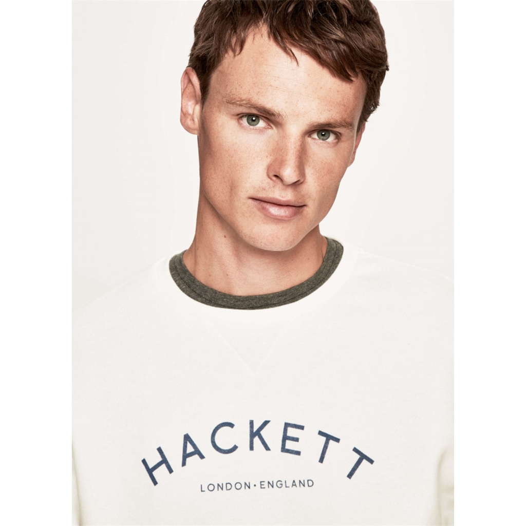 Autumn 2018 Hackett of London 'Mr Classic' Crew-Neck Sweater - Ecru