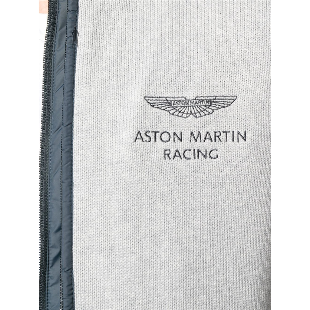 Autumn 2018 Hackett of London Aston Martin Racing Double-Front Cardigan - Anthracite
