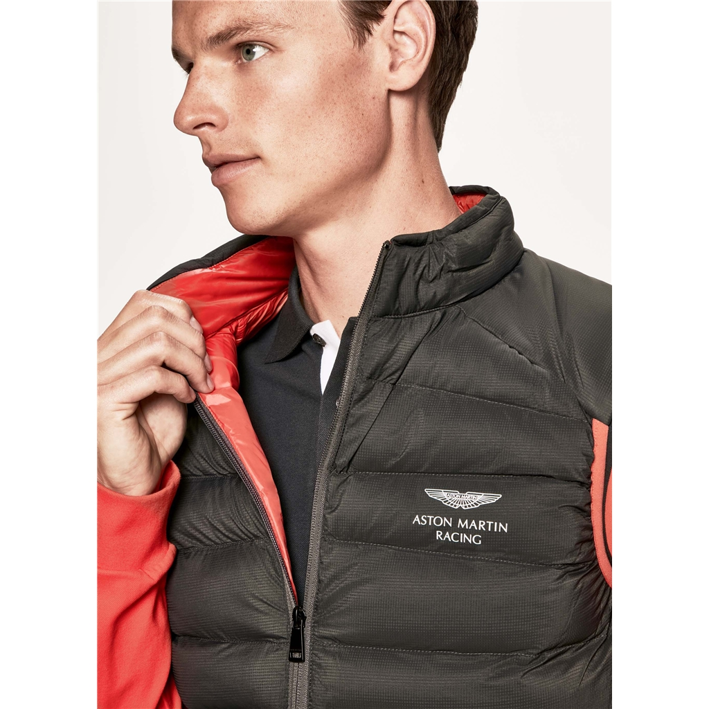 Autumn 2018 Hackett of London Aston Martin Lightweight Gilet - Charcoal/Orange