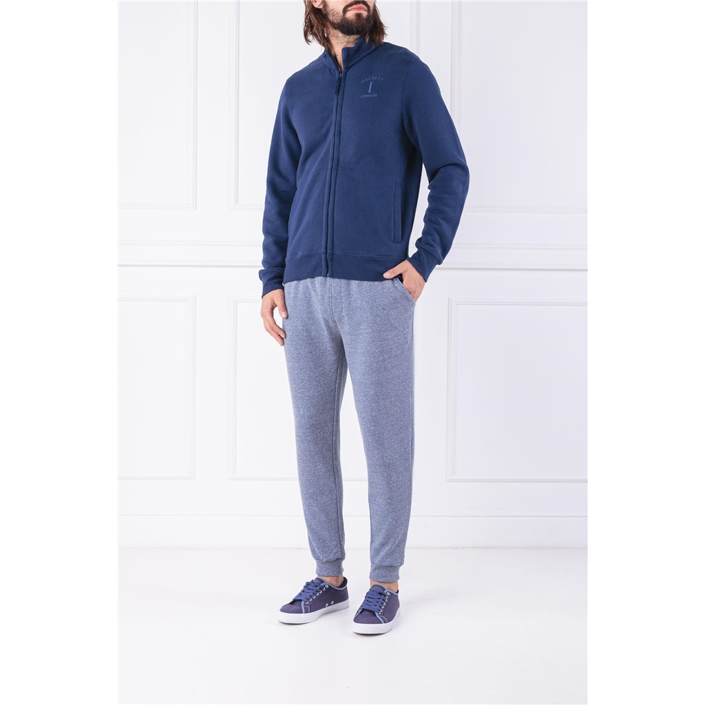 Autumn 2018 Hackett of London 'Mr Classic' Zip-front Sweater - Navy