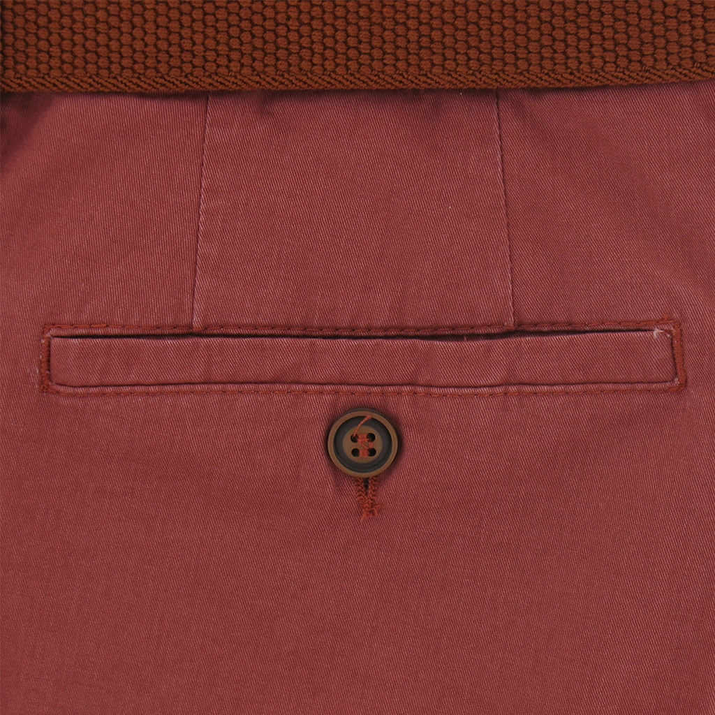 "Gurteen Light-weight Cotton Trouser - Redcurrant - Longford 1400 044 - Size 38""S Only"