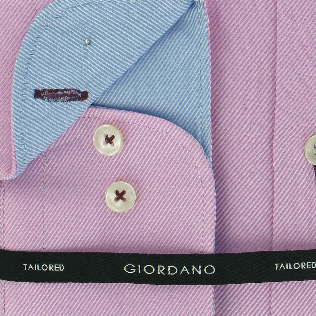 Autumn 2018 Giordano Shirt - Pink Twill