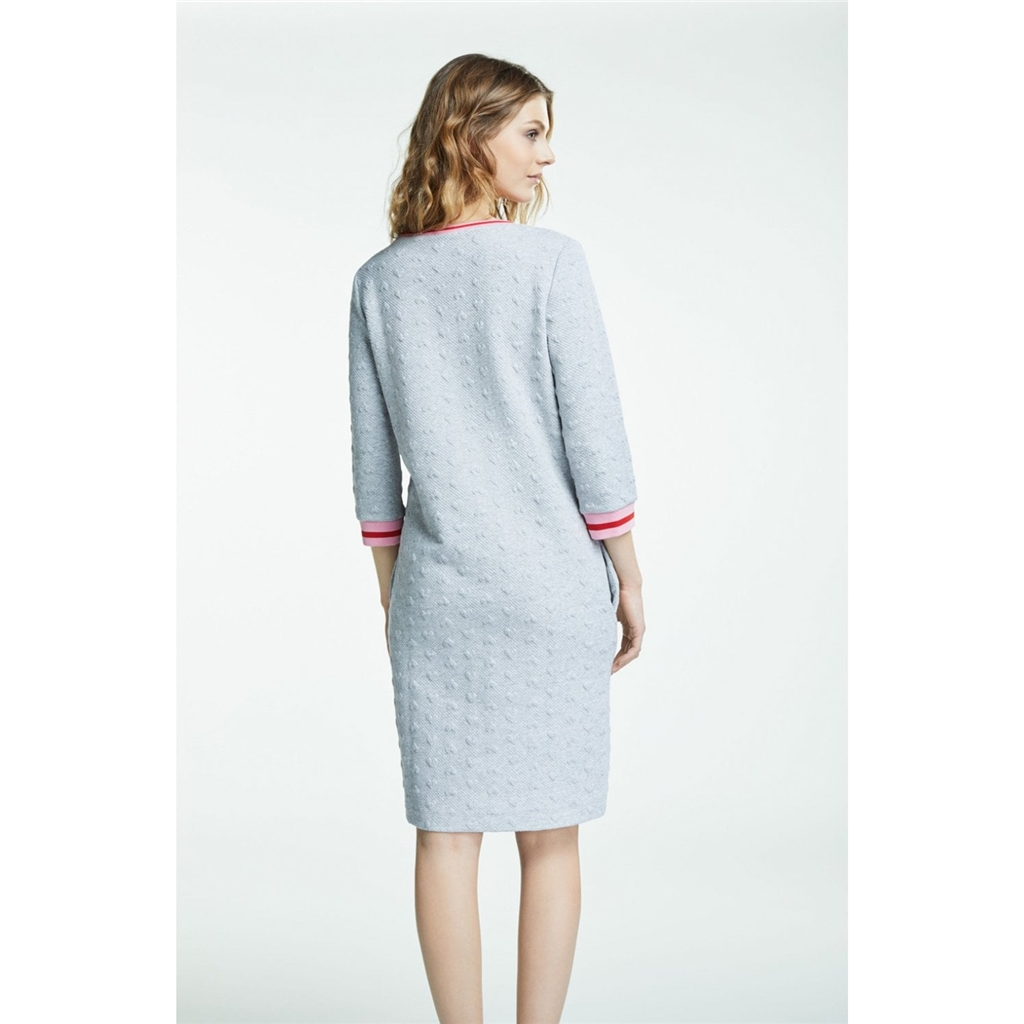 Oui Jacquard Heart Dress - Grey