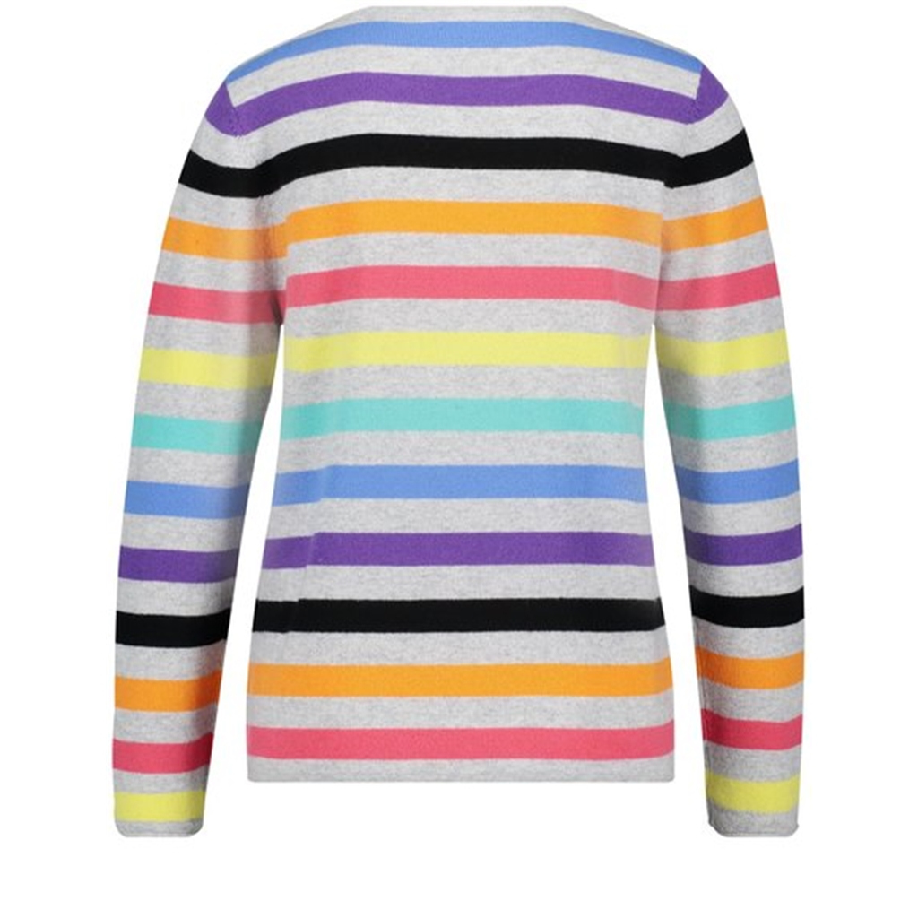Gerry Weber Cashmere Stripe Jumper - Multi - Size 12 Only