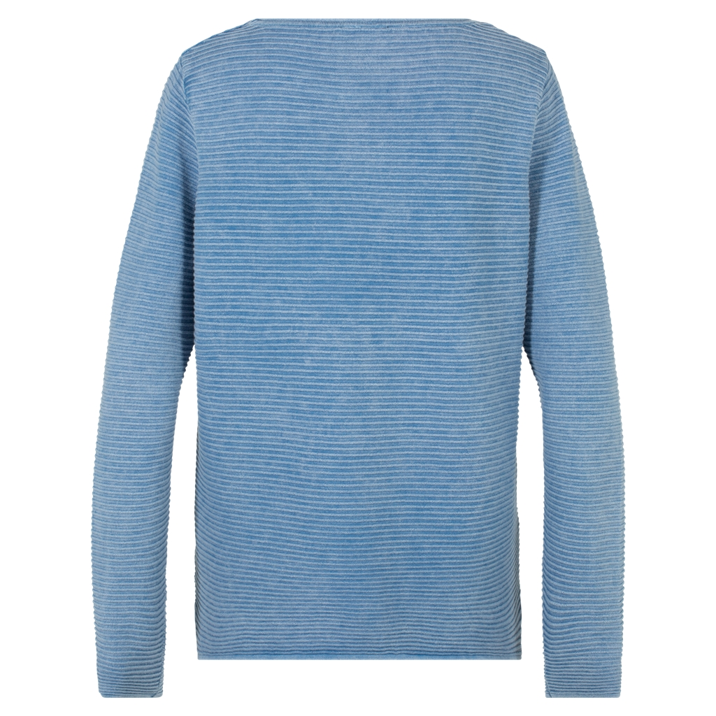 Olsen Soft Ribbed Sweater - Blue