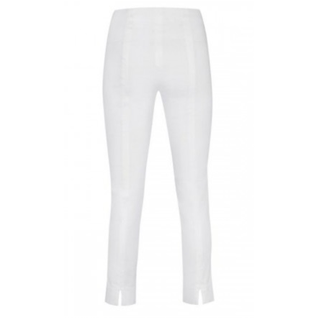 Robell Trousers - Rose 7/8 Length Trouser - White