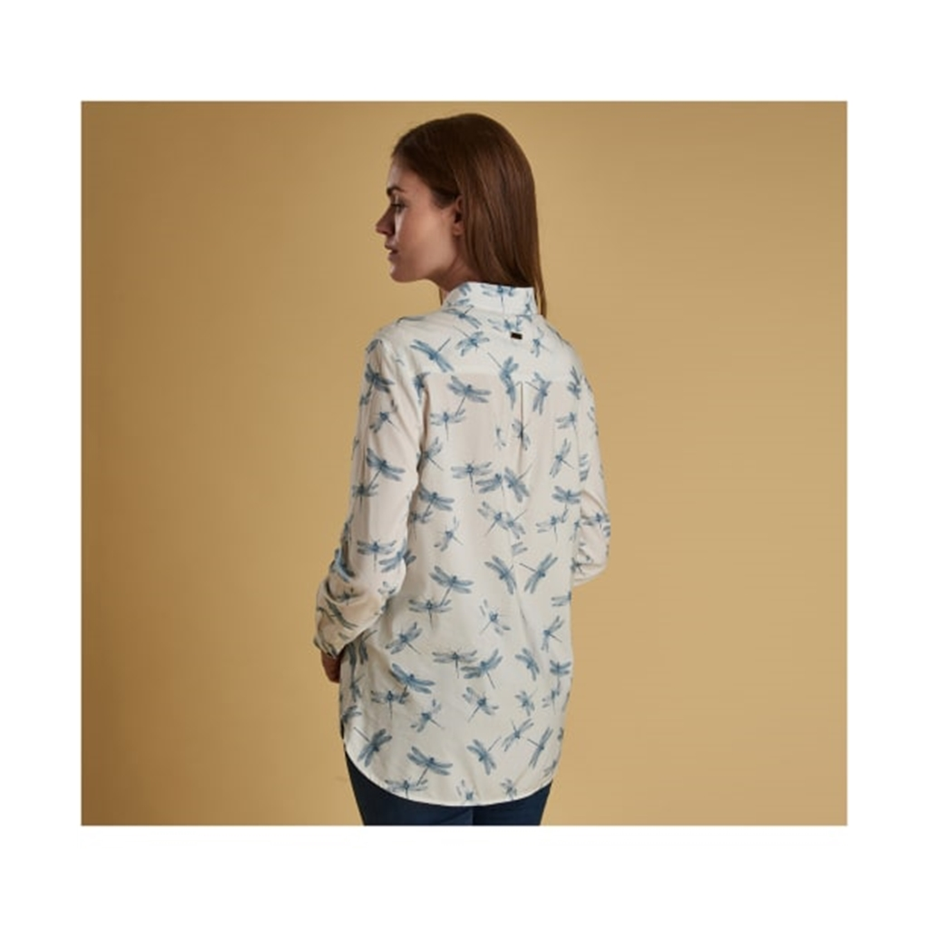New 2019 Barbour Women's Shirt - Bowfell - White Dragonfly