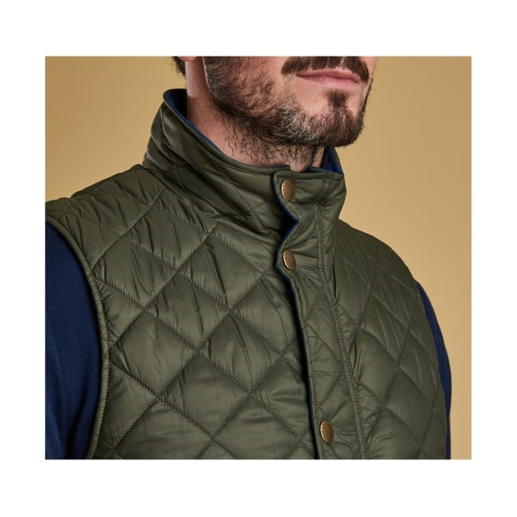 New 2019 Barbour Men's Quilted Gilet - Ampleforth - Olive